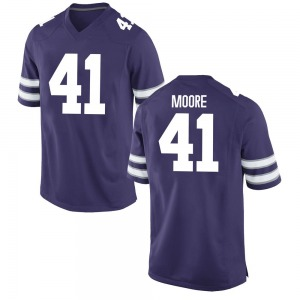 Austin Moore Nike Kansas State Wildcats Men's Replica Football College Jersey - Purple
