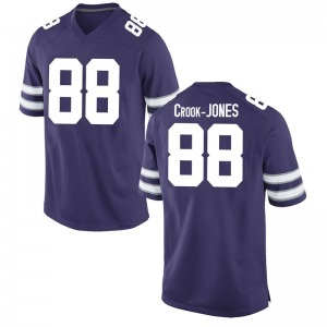 Cartez Crook-Jones Nike Kansas State Wildcats Youth Game Football College Jersey - Purple