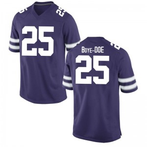 Ekow Boye-Doe Nike Kansas State Wildcats Youth Game Football College Jersey - Purple