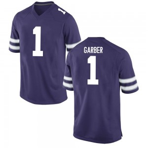 Keenan Garber Nike Kansas State Wildcats Youth Replica Football College Jersey - Purple